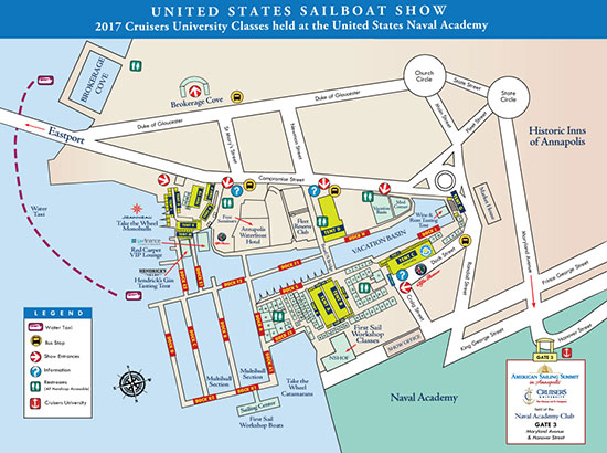 United Sailboat Show Show Layout