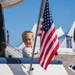 kid and flag